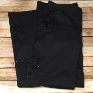 Size 10 Express Black Editor Pants with Beading